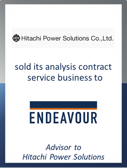 Hitachi Power Solutions sells its analysis contract service business to Endeavour United