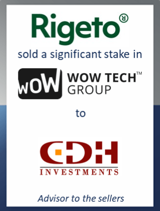 Sale of significant stake in Wow-Tech